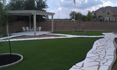 Artificial Grass Photos: Artificial Grass Installation South Highpoint, Florida Landscaping Business, Backyard Design
